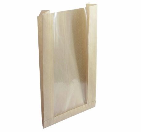 пакет с прямоугольным дном и окном