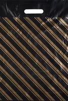 Пакет полиэтиленовый ПВД золотая полоса 40×47 см с вырубной ручкой оптом (50 штук в упаковке)