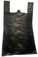 Пакет-майка ПНД усиленный черный 30 мкм (40+18x70 см, 50 штук в упаковке)
