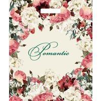 Пакет полиэтиленовый Благородные цветы с вырубной ручкой 45х38 см (50 штук в упаковке)
