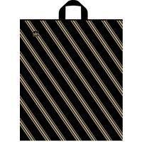 Пакет полиэтиленовый Золотая полоса с петлевой ручкой 44х40 см (50 штук в упаковке)