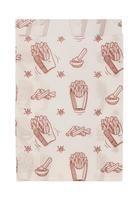 Крафт пакет бумажный для фаст-фуда жиростойкий белый с принтом 11х17.5х5 см (3500 штук в упаковке)