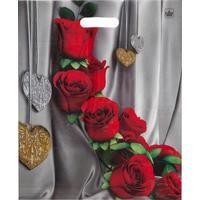 Пакет полиэтиленовый Цветы страсти с вырубной ручкой 45х38 см (50 штук в упаковке)
